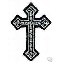 Wholesale Celtic Cross Crucifix Embroidered Maltese Cross Iron Celtic Cross Patch from china suppliers