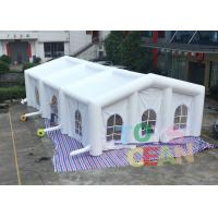 Wholesale White 0.55mm PVC Giant Inflatable Tents , Large Square Inflatable Wedding Tent from china suppliers