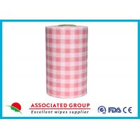 Wholesale Plaid Pattern Spunlace Nonwoven Wipe Rolls In different Color, Breakpoint Available from china suppliers