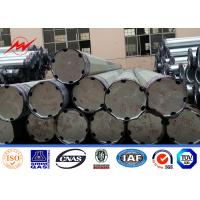Wholesale 14m Gr65 Bitumen Burial Turn Steel Utility Pole Tubular Triangular Angular Lattice from china suppliers