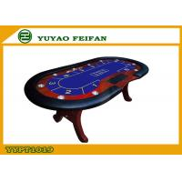 Wholesale Deluxe Folding Poker Table Top Solid Wooden Feet Club Home For Fun from china suppliers
