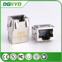 Wholesale 10/100/1000 base low profile rj45 connector with transformer, 12 pins SMD from china suppliers