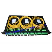 Wholesale Rack Mount Fiber PLC Splitter Patch Panel SC / APC With 6pcs of 1 * 4 Splitter from china suppliers