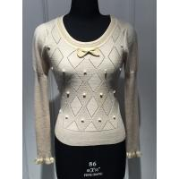 Wholesale Breathable Pullover Knit Sweater , White Pull Over Sweaters For Women from china suppliers
