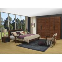Wholesale 2016 New Nordic Design Cow leather Headboard bed in Walnut wood Furniture and MDF panel Wardrobe in Wall cabinet from china suppliers