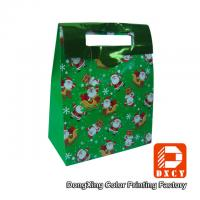 Wholesale Full Color Portable Custom Paper Gift Bags , Handmade Paper Christmas Gift Packaging from china suppliers
