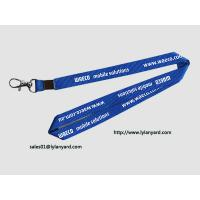 "Wholesale Mobile Solutions Silk Screen In White Print Neck Lanyard 36"" with Metal Crimp from china suppliers"