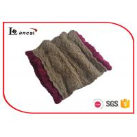 Wholesale Camel Acrylic Knitted Neck Scarf from china suppliers