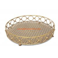 Wholesale hot sell  fashion design round metal fruit tray for home ,hotel,restaurant decoration from china suppliers