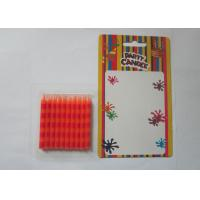 Quality Special Orange Stripe Silk Screen Printing Party Pillar Candles for Birthday for sale