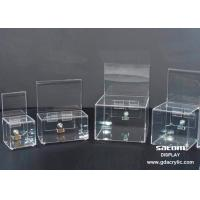Wholesale Locked Small Advertising Header Acrylic  Donation Box / Coin Donation Containers from china suppliers