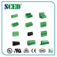 Wholesale 12 Poles Electronic Green pcb terminal block connector PA66 Pitch 2.54mm from china suppliers