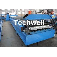 Wholesale Custom Made Color Steel Roof Wall Roll Forming Machine With PPGI , GI Forming Material from china suppliers