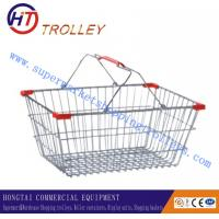 Wholesale Durable Supermarket Small Metal Shopping Basket With Soft Grip Plastic Handle from china suppliers