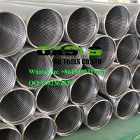 Wholesale APT STC thread end wire wrapped continuous slot Johnson water well screens pipe from china suppliers