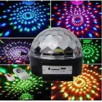 Wholesale flashlighting USB speaker/crystal magical ball light/led rotating light ball /MP3 Player from china suppliers