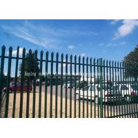 Wholesale Triple Pointed Steel Picket Fence , Palisade Fencing And Gates Easily Assembled from china suppliers