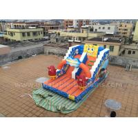 Wholesale Cartoon Themed Inflatable Slip N Slides SpongeBob Bouncer For Amusement Park from china suppliers