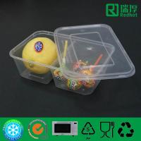Quality Two Compartment plastic food container / divided clear plastic box 850ml for sale