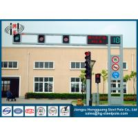 Wholesale Frame Style Traffic Light Pole Hot Dip Galvanization 4m - 10m Height from china suppliers