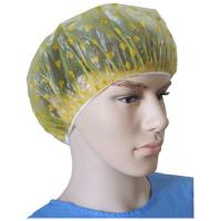 Wholesale Disposable PE Shower Cap with Heart-Shaped in Yellow from china suppliers