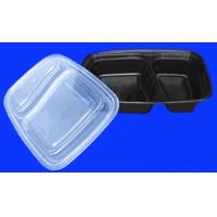 Wholesale 32oz Rectangular Disposable Plastic Food Containers 2 Compartments from china suppliers