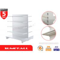 Wholesale Heavy Duty Gondola Store Shelving / Convenience Store Display Fixtures With Plain Back from china suppliers