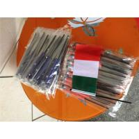 Wholesale Digital Printing Knitted Custom Hand Waving Flags With Plastic Poles from china suppliers