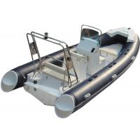 Quality 520cm ORCA  Hypalon  inflatable rib boat rib520 sunbed fuel tank with big  center console butterfly anchor for sale