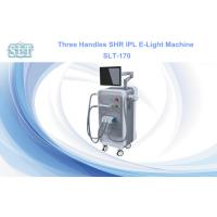 Wholesale Painless Hair Removal E-Light IPL RF Skin Tightening Machine , Three Handles from china suppliers