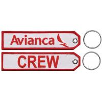 Wholesale Avianca Crew Embroidered Keychain with Customized Embroidered Logo, Accept Any Color and Size from china suppliers