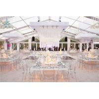 Wholesale Transparent Roof Fabric Tent Luxury Outdoor Wedding Party Marquee Aluminum Structure from china suppliers