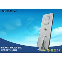 Wholesale 8000LM Wireless All In One Pole Solar Powered Road Lights With Bridgelux LED Chips from china suppliers