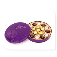 Wholesale Ferrero Rocher Chocolate Tin Box With Plastic Insert Custom Printed from china suppliers