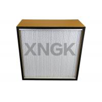 Quality Plywood Particle Board Frame Cleanroom Hepa Filter 0.3 Micron For  Pharmaceutical Or Food Industries for sale