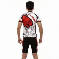 Wholesale Polyester Sublimated Cycling Jersey, Moisture Wicking and Absorption Fabric, Anti-UL. from china suppliers