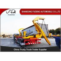Wholesale Heavy Duty Self Unloading Container TrailerWith Hydraulic Container Lifter from china suppliers