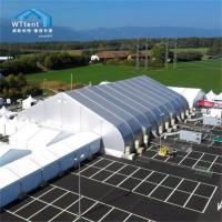 China Silver Curved Tent PVC Cover , Sports Marquee Sandwich Panel Wall on sale
