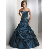 Wholesale Dark Green Long Evening Party Dresses , Sleeveless Beaded Prom Gown from china suppliers