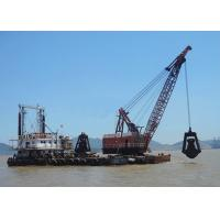 Quality 5 - 80 Ton Offshore Marine Cranes Special Grab Bucket Dredger 1.2r/Min For Ship Loading for sale