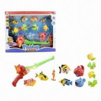Wholesale 11-piece Game Fishing Toys with 1 Piece Fishing Rod and 10 Pieces Fishes  from china suppliers
