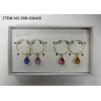 Wholesale Metal wine charms with crystals from china suppliers