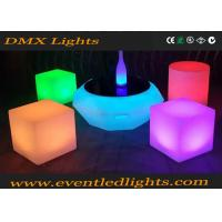 Wholesale PE Plastic Rechargeable Led Light Chair / Led Cube / Led Stool Colorful from china suppliers