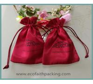 Quality customize silk satin gift bag, satin jewelry bag, satin cosmetic bag for sale