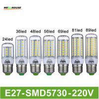 Wholesale Goodland Brand LED Lamp E27 220V LED Light 24/36/48/56/69/81/89LEDs Lampada LED Bulb Christmas Chandelier Lights from china suppliers