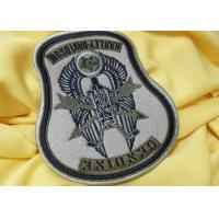 Wholesale Custom Flag 3D Born To Be Mild Logo Embroidered Neck Patch Reusable from china suppliers