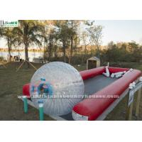 Quality Crazy Fun Inflatable Human Bowling Race Track With Zorb Ball for sale