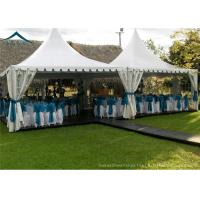 Wholesale White PVC Small Pagoda Tents For Commercial Activities Wooden Flooring from china suppliers