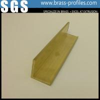 Wholesale Durable Solid Brass L Shape Door Channel / Copper Alloy Profiles from china suppliers