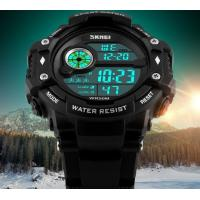 Wholesale Skmei Fashion Men Multifunction 50m Waterproof Chrono Alarm PU Strap Sport Watch Outdoor Watches 1280 from china suppliers